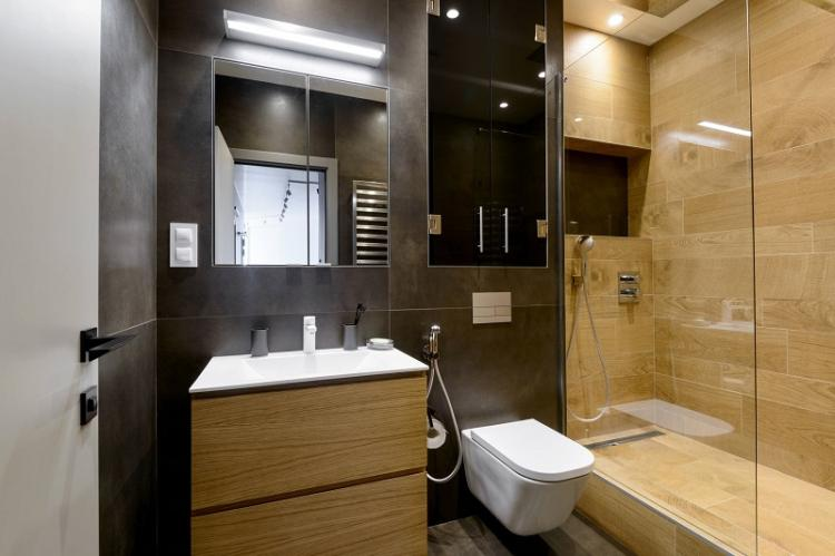 Гипсокартон в отделке - Дизайн ванной комнаты 3 кв.м.