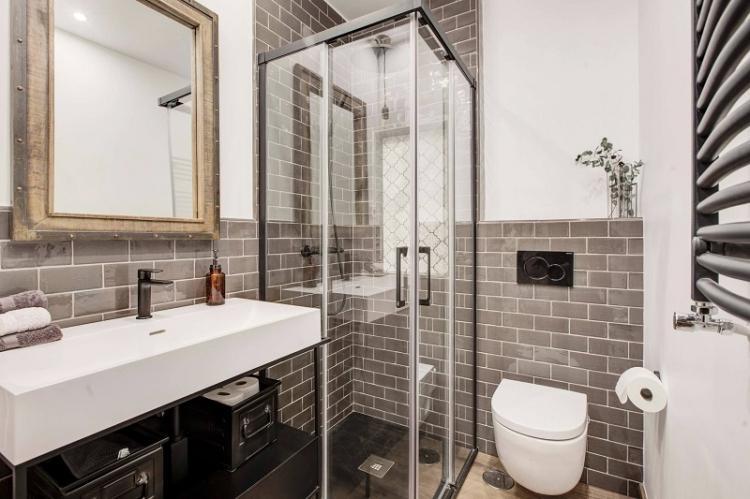 Отделка стен - Дизайн ванной комнаты 3 кв.м.