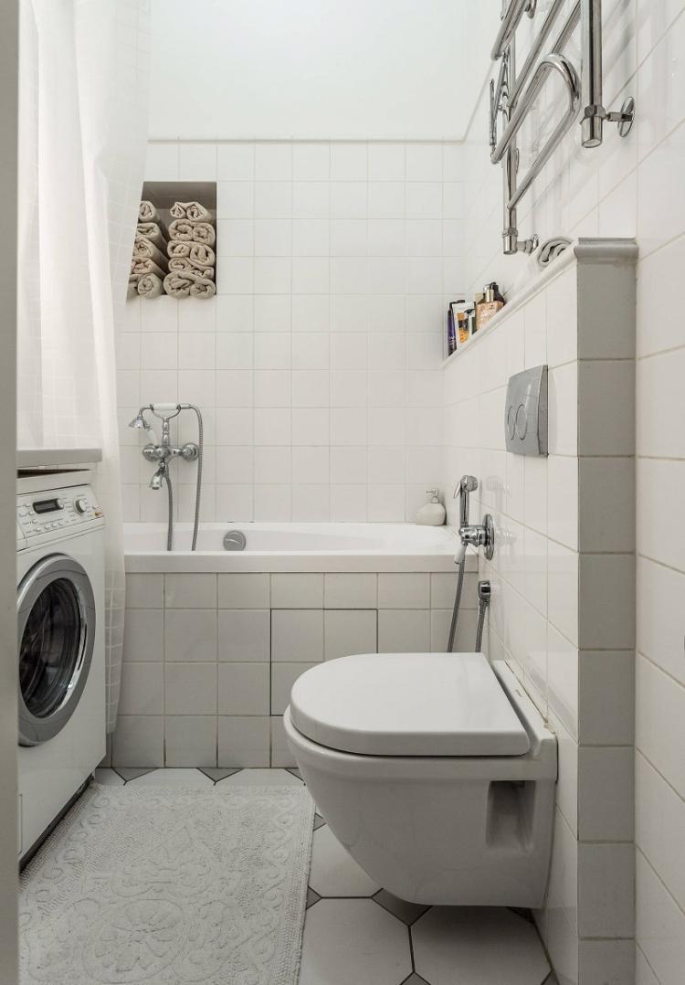 Отделка пола - Дизайн ванной комнаты 3 кв.м.