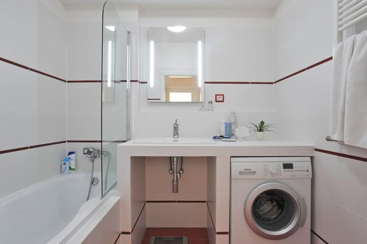 Куда поставить стиральную машину - Дизайн ванной комнаты 3 кв.м.