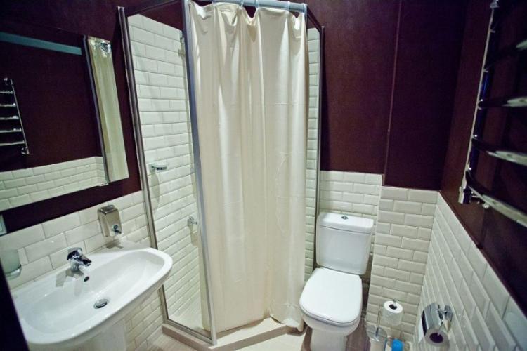 Душевая кабина - Дизайн ванной комнаты 3 кв.м.