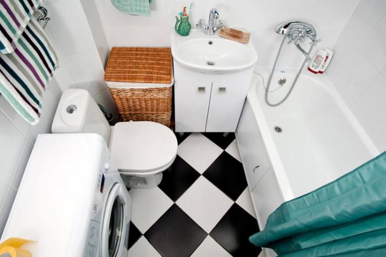 Сантехника и мебель - Дизайн ванной комнаты 4 кв.м.