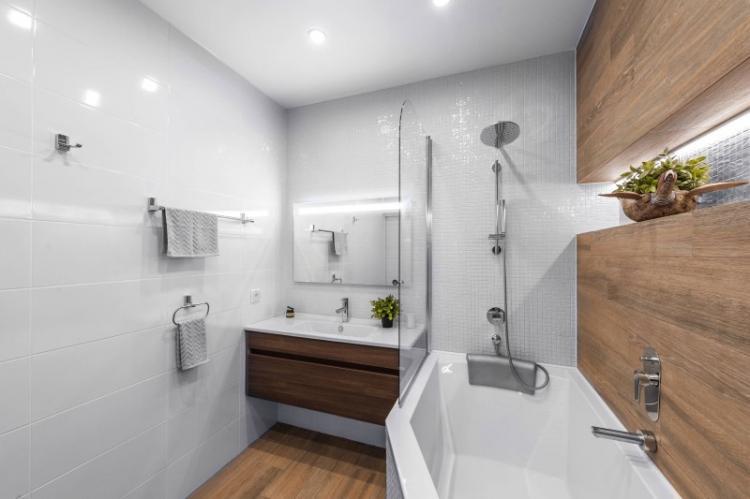 Цвет - Дизайн ванной комнаты 4 кв.м.