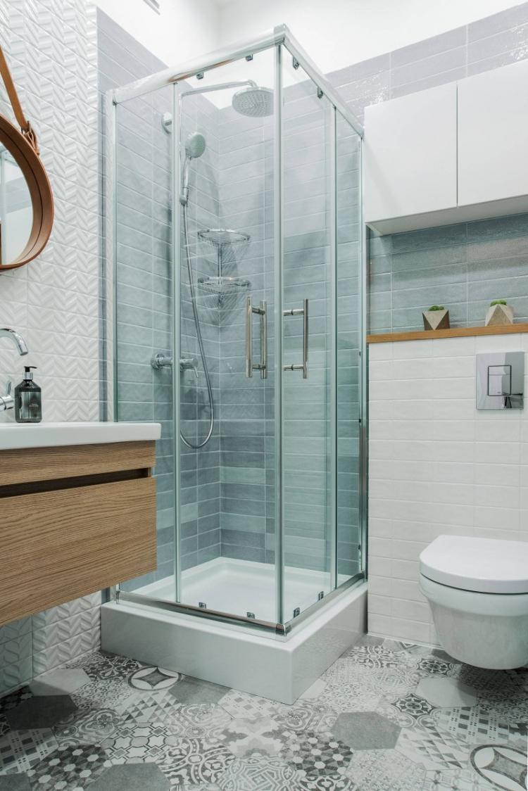 Отделка пола - Дизайн ванной комнаты 4 кв.м.
