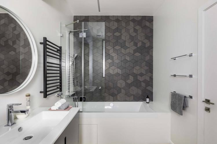 Зеркала - Дизайн ванной комнаты 4 кв.м.