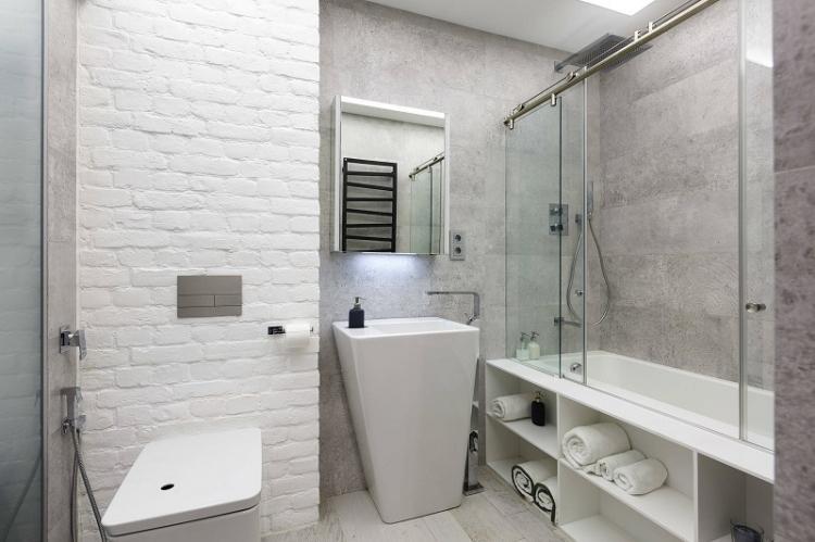 Системы хранения - Дизайн ванной комнаты 4 кв.м.