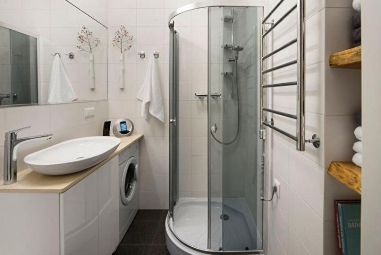 Душевая кабина - Дизайн ванной комнаты 4 кв.м.