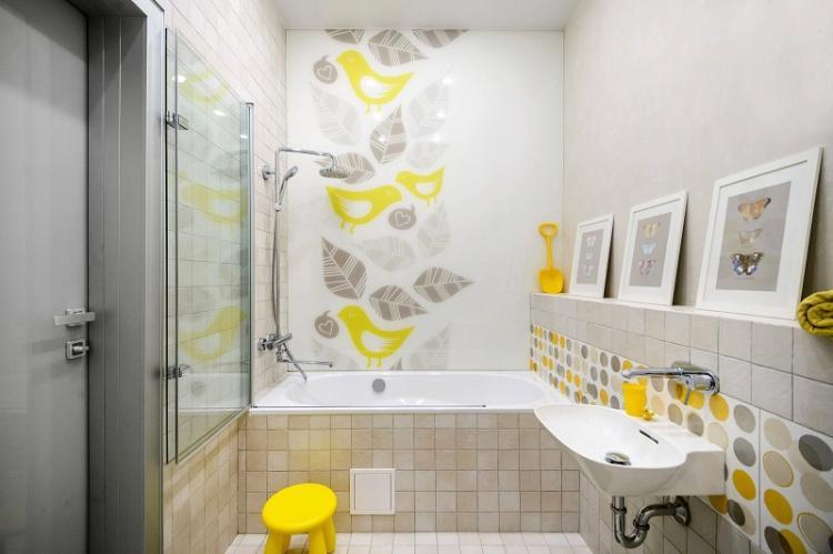 Минимум декора - Дизайн ванной комнаты 4 кв.м.