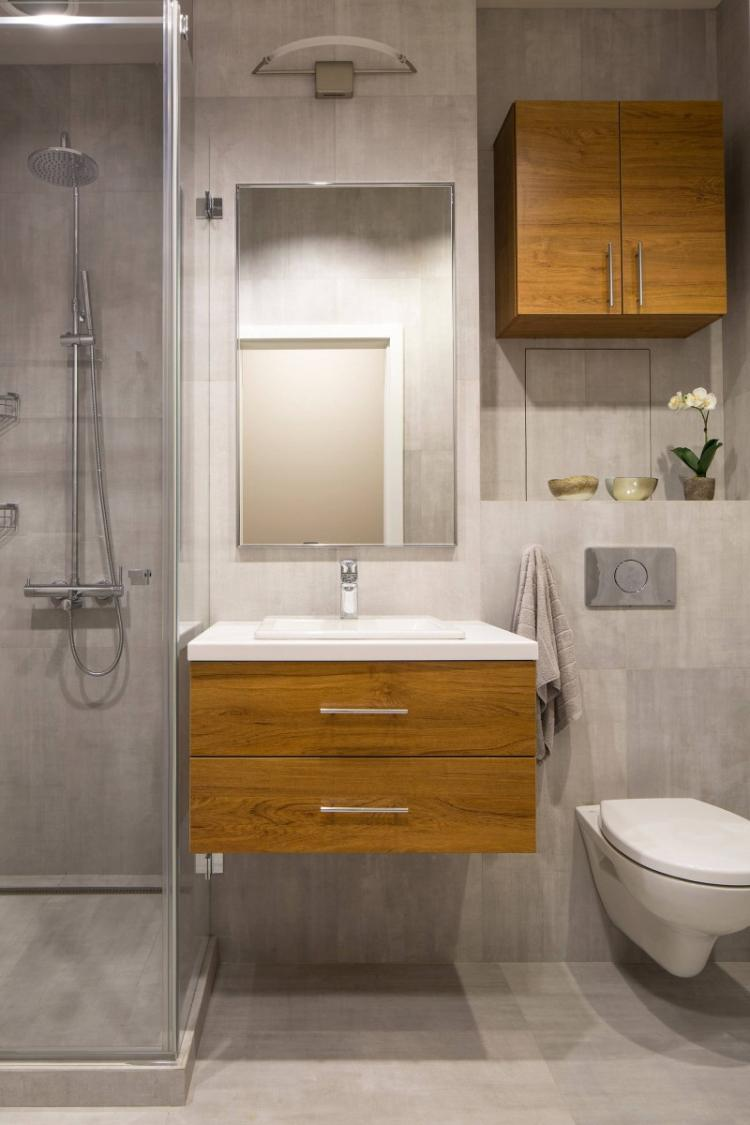 Дизайн интерьера ванной комнаты 4 кв.м. - фото реальных интерьеров