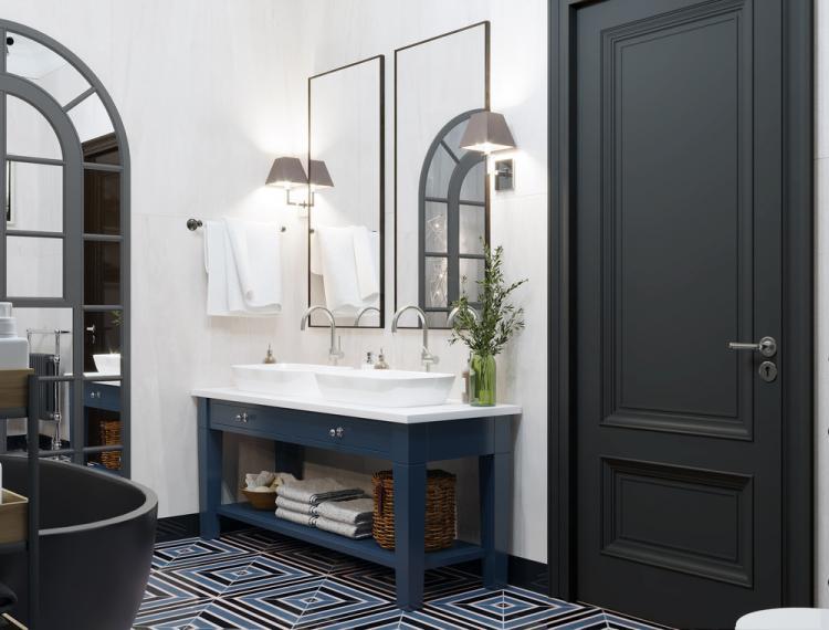 Дизайн ванной комнаты «Оттенки серого»