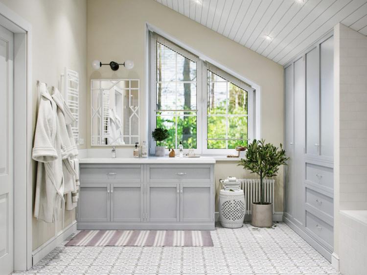Дизайн интерьера ванной комнаты в скандинавском стиле