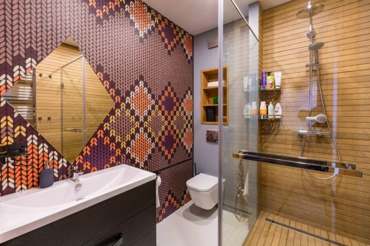 Унитаз - Дизайн ванной с душевой кабиной