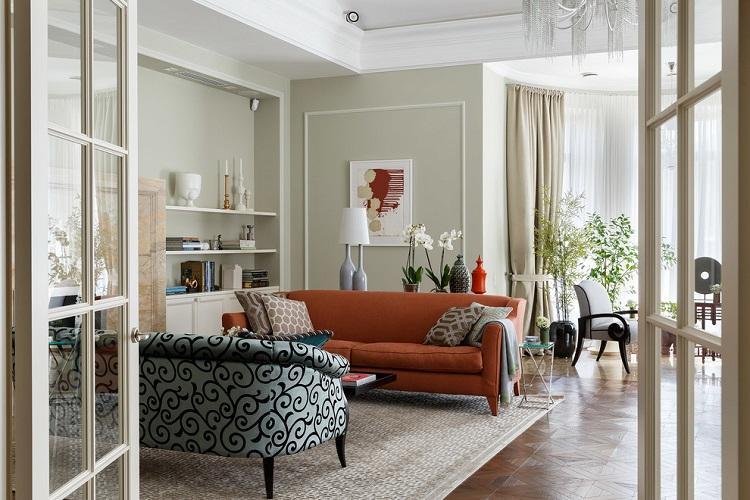 Зал в стиле современная классика - Дизайн интерьера