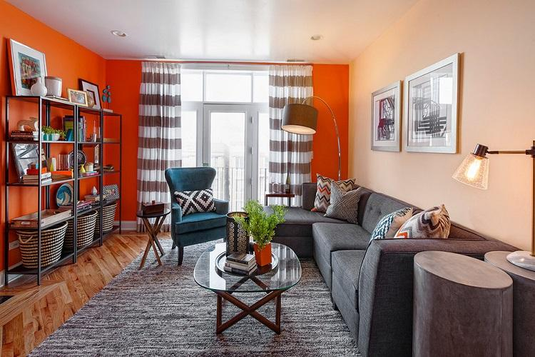 Отделка стен - Дизайн зала в квартире