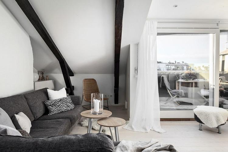 Отделка потолка - Дизайн зала в квартире