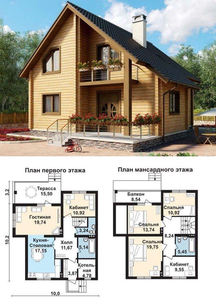 Варианты планировки - Дом с мансардой