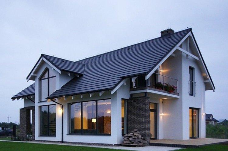 Дом в скандинавском стиле из блоков - проекты и фото