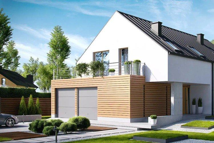 Дом в скандинавском стиле с гаражом - проекты и фото