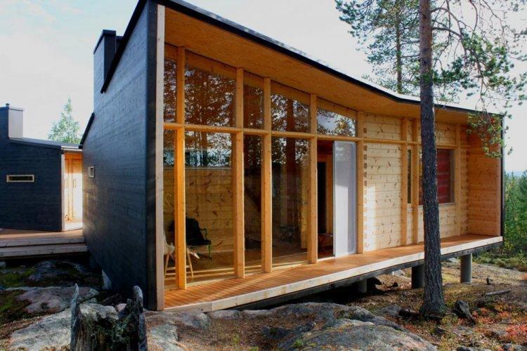 Дом в скандинавском стиле с сауной - проекты и фото