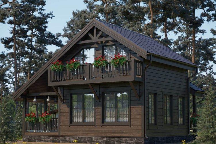 Дом в скандинавском стиле с балконом - проекты и фото