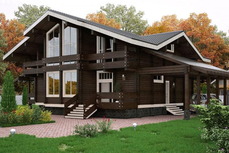 Двухэтажные дома в стиле шале - Проекты