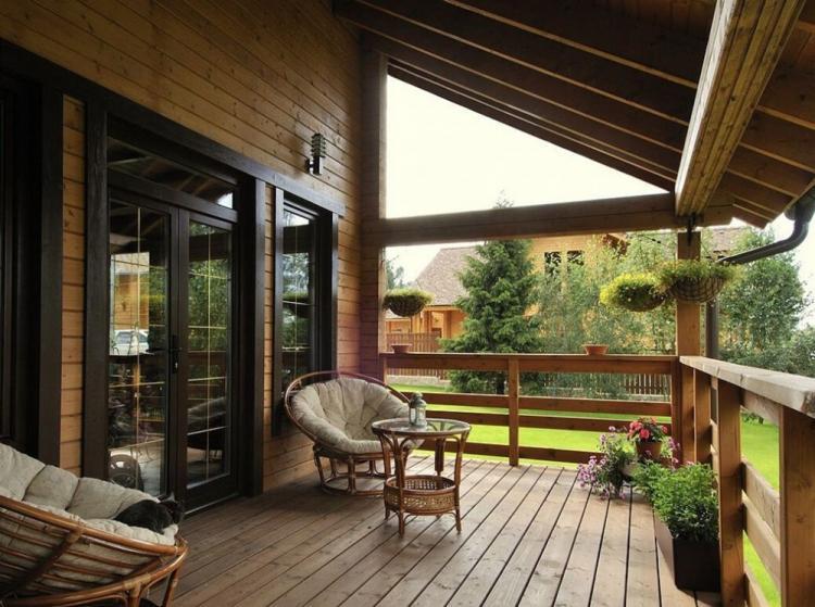 Дома в стиле шале с верандой - Проекты