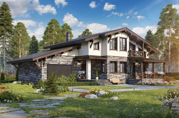 Дома в стиле шале с гаражом - Проекты