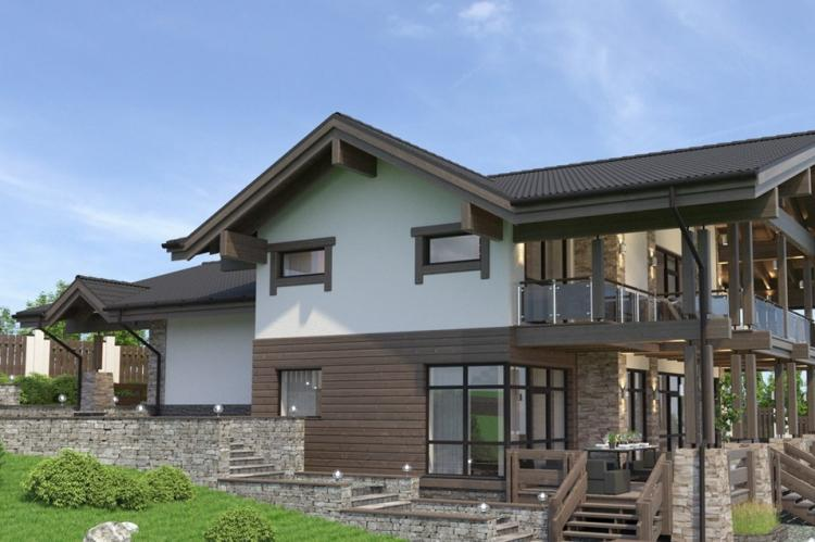 Дома в стиле шале на склоне - Проекты