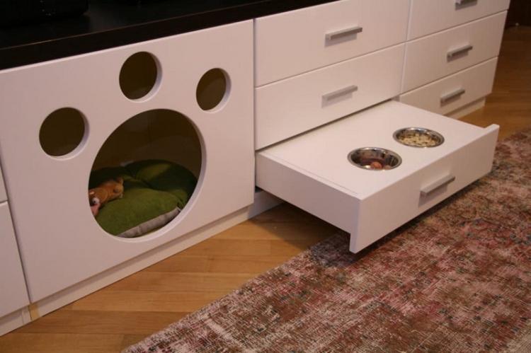 «Встроенный» домик для кошки - Домик для кошки своими руками