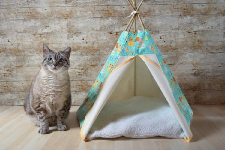 Домик-палатка - Домик для кошки своими руками