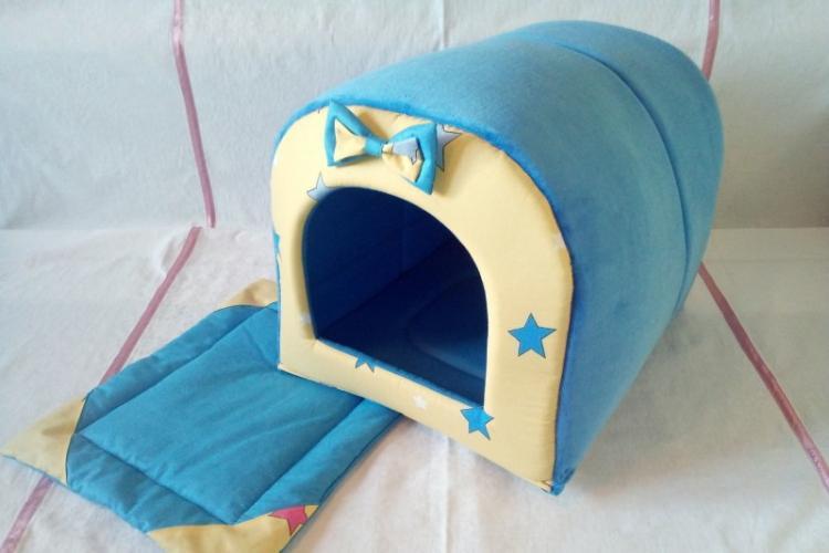 Уютный домик для кошки из ткани - Домик для кошки своими руками