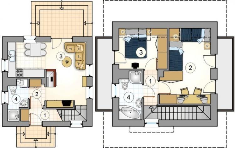 Варианты планировки двухэтажного дома