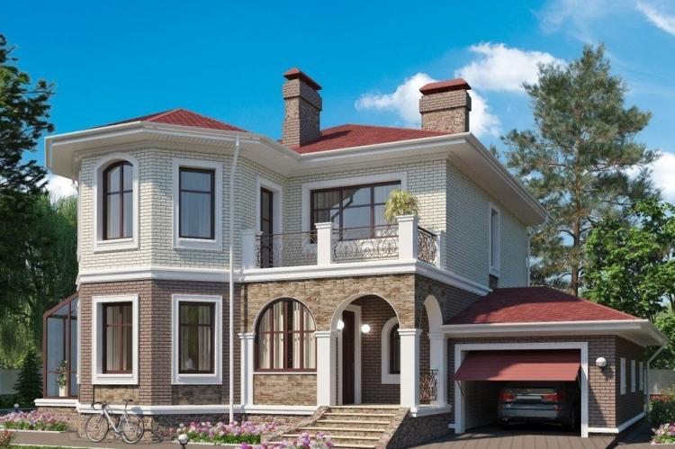 проект домов из кирпича двухэтажные фото того, чём-то