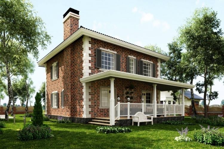 Двухэтажные дома с террасой - проекты и фото