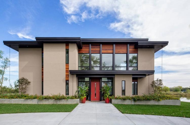Двухэтажные дома с плоской крышей - проекты и фото