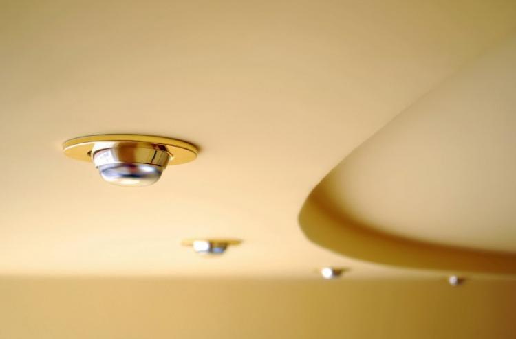 Проемы для светильников - Двухуровневые натяжные потолки