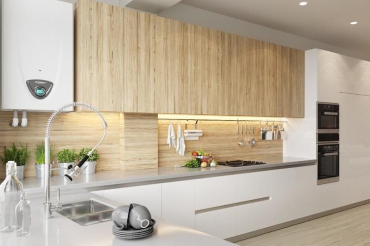 Фартук на кухне из дерева