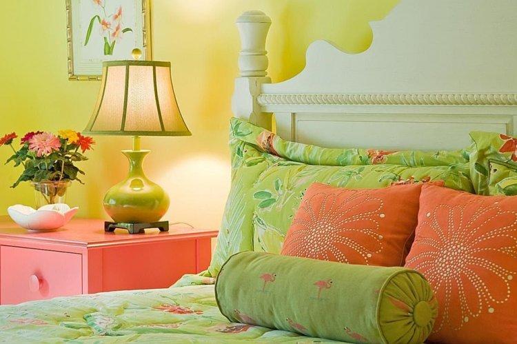 Фисташковый с розовым - Сочетание цветов в интерьере