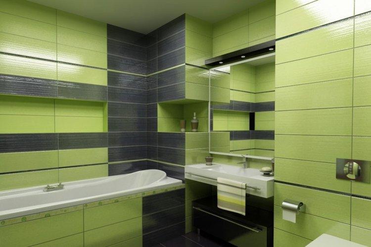 Фисташковый цвет в ванной комнате - дизайн фото