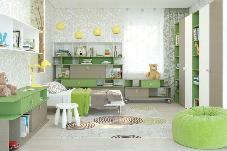 Фисташковый цвет в детской комнате - дизайн фото