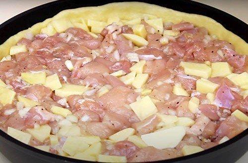 Курник с курицей и картошкой – классический рецепт