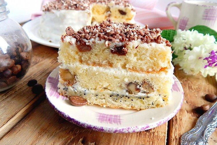 Постный торт «Вкус детства»