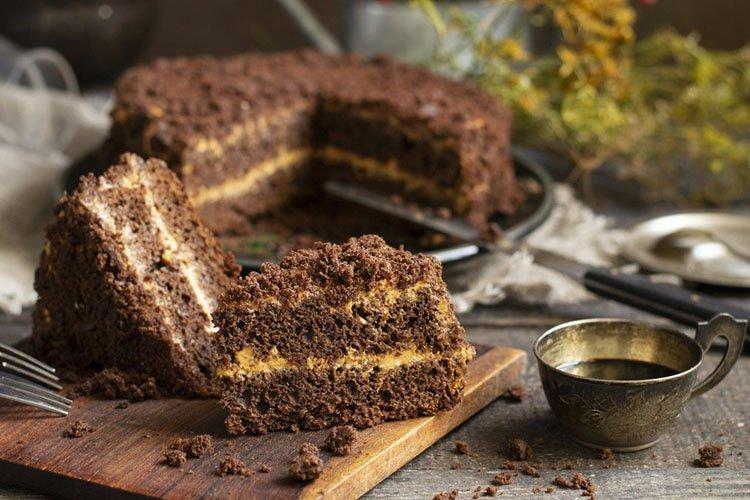 Постный торт «Овсяный»