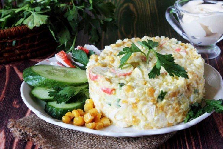20 крабовых салатов, вкуснее которых вы еще не пробовали