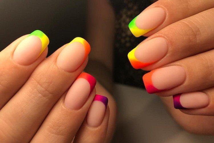 Цветной френч