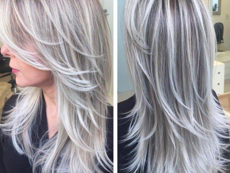 Холодное мелирование на русые волосы