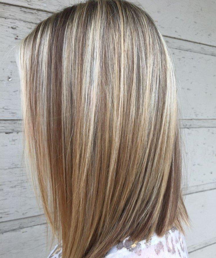 Мелирование на русые волосы 2021 - фото