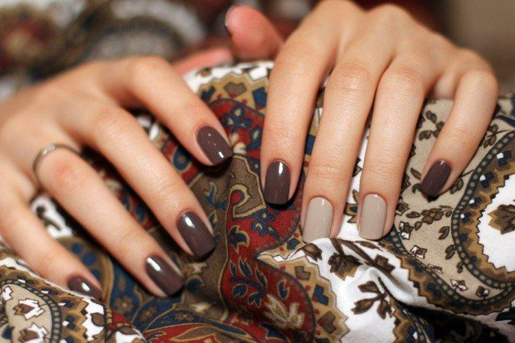Маникюр на короткие ногти, осень 2021: модные и красивые идеи (50 фото)