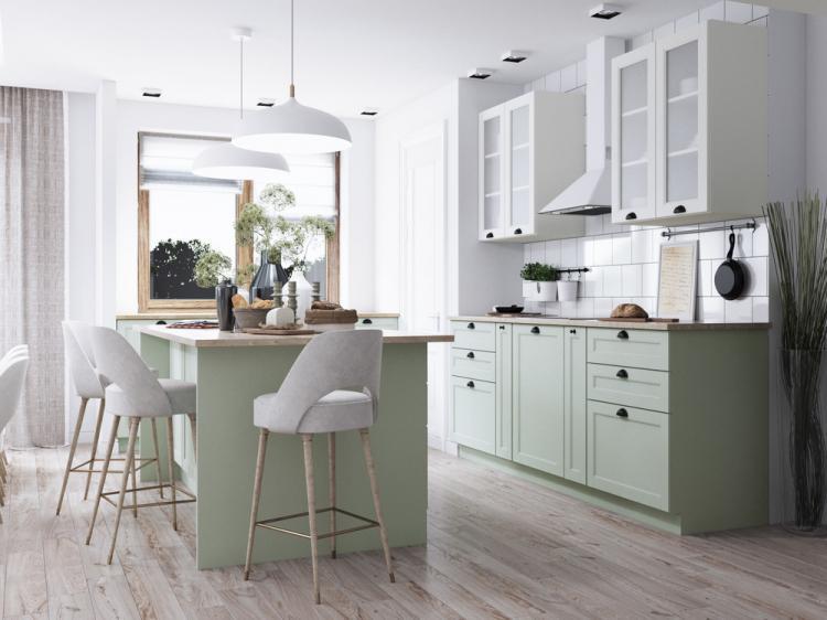 Galanthus: Дизайн кухни-гостиной