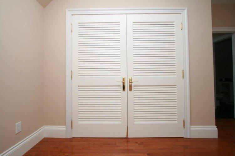 Жалюзийные двери - Гардеробная своими руками